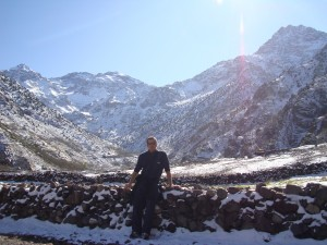 The view towards Mt. Toubkal Morocco