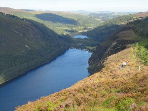 Getting high above Glendalough