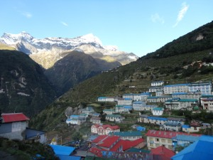 The Sherpa capital Namche Bazaar