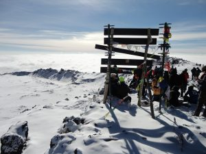 The top of Kilimanjaro