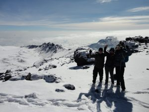 High on Kilimanjaro's crater rim
