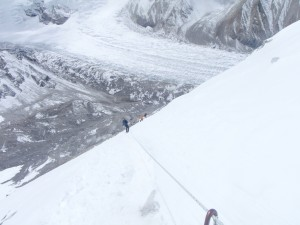 The initial route up Cho Oyu