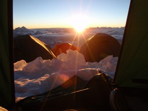 Sunset high on Cho oyu