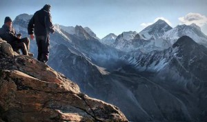 View of Everest from Goyko