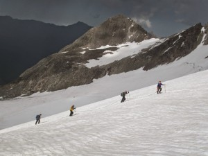 Training climb on Mt. Elbrus