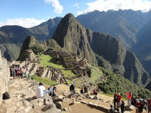 The final walk into Machu Picchu