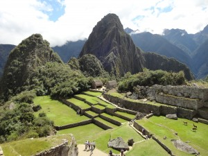 Inside the city of Machu Picchu
