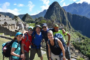 An Ian Taylor Trekking group in Machu Picchu