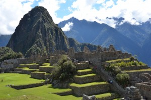 A view view of Machu Picchu