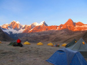 Camping out in the Huayhuash Circuit Trek