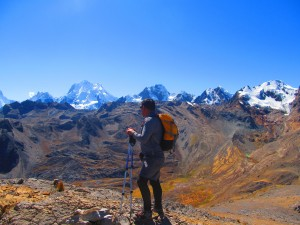 Trekking on the Huayhuash circuit trek in Peru