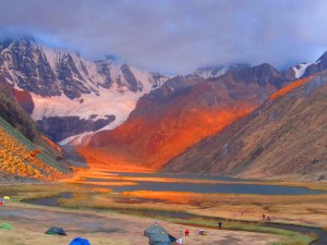 Camping in Colorful Peru