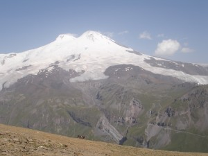 Mt. Elbrus from a distance