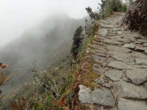 Big drop off on the Inca trail