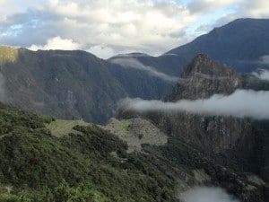 The view walking into Machu Picchu