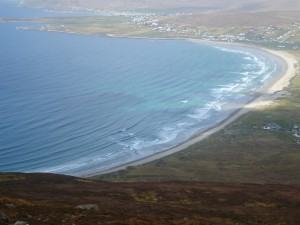 Keel beach on the Wild Atlantic way