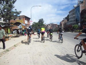 Mountain biking across Tibet