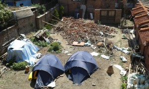 Our camp site in Kathmandu