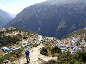 Above Namche Bazaar post earthquake