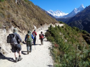 The Everest trail from Namche to Tengbouche