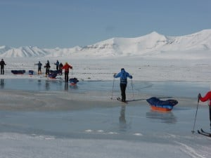 Mixed conditions crossing Svalbard