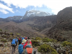 Moving to Baranco camp to the Baranco wall on Kilimanjaro