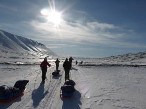 Making the amazing journey across Svalbard