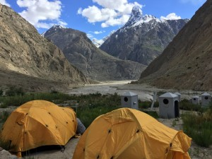 Camping on route to K2