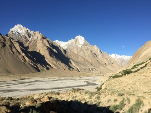raw valley floor on route to K2