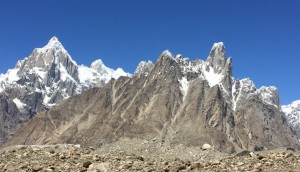 Jagged peaks on route to K2