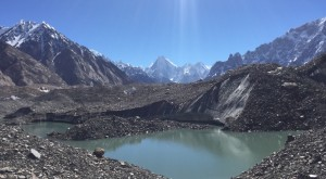 High Alpine lake on route to K2