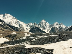 High in the Karakorum mountains.