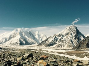 High on the Baltoro glacier