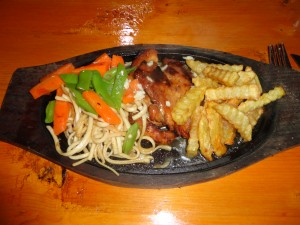 A chicken Sizzler from Namche Bazaar