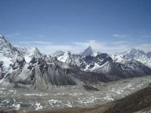 The view off Kala Phattar on the Everest base camp trek
