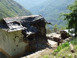 Broken home in Goli Village Nepal
