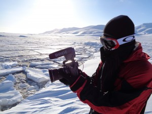Filming the ocean rocking in Svalbard after the earthquake