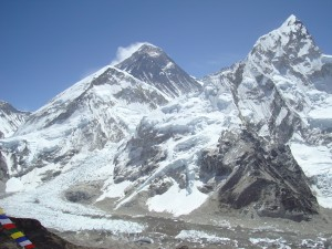 The view of Mt. Everest