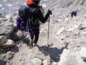 The descent on the Everest base camp trek