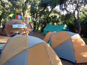 Ian Taylor Trekking's camp set up