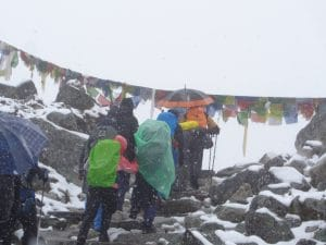 Walking into the Everest Memorial 4,820m