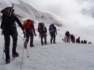New route to the Mera La on Mera peak