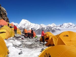High camp on Mera peak