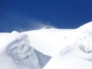High wind on Mera peak