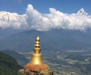 Machapuchare and Annaurna south from above Pokhara