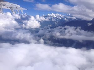 The flight from Lukla to Kathmandu