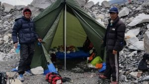 Our kitchen tent in Everest Base Camp