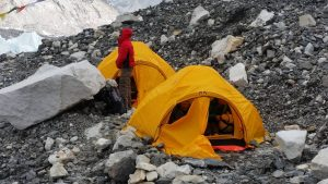 Our tents in Everest Base Camp