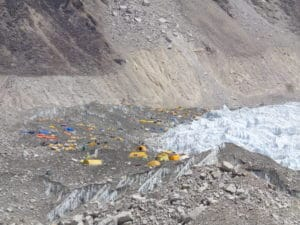The first company offering sleeping at Everest Base Camp