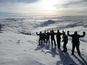 Hiking along Kilimanjaro's crater rim
